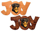 Rottweiler Dog Joy Leash Holder. In Home Wall Decor Wood Products, Pet Gifts
