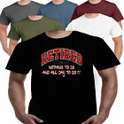 Retired All Day Vintage Rude Joke Funny Slogan Mens T shirt Dad Gift Present S-3