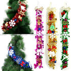 "33"" Shiny Christmas Ornaments Tinsel Xmas Tree Wreath Ball Decoration Garland fb"
