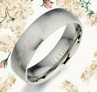 Sz4-11 Couple Men Women Silver Wedding Comfort Fit Titanium Rings MKUS091 5mm