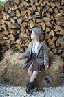 Branded Girls Formal Brown Winter Coat, Shirt, Skirt and Hat Age 1 to 10 YRS