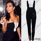 Womens Sexy Celeb Black White Plunge Jumpsuit Party Dress Maxi Playsuit Boutique