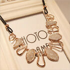 Women Fashion Chunky Chain Choker Bib Statement Charm Collar Pendant Necklace