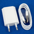 New EU European Wall Charger + 8 Pin to USB Data Cable for iPhone 5 5C 5S Ipod