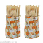 57097 Wooden Wood Tooth Picks / Cocktail Sticks Toothpicks in Straw Holder
