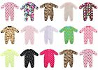 Baby Boys / Girls Fleece Sleepsuit Onesie (Ages New Born, 0-3, 3-6 & 6-9 Months)
