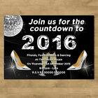 High Quality Personalised New Years Eve Party Invites + Envelopes Disco Heels