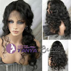 "14"" ~ 20"" Full/Front Lace Wigs Brazilian Remy Human Hair Body Curly Density130%"