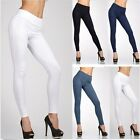 Hot Women Trendy Leggings With Zipper High Waist Jeggings Stretchy Trousers - CB