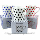 NEW Fine China POLKA Dot Collection MUG/CUP by Leonardo Gift Box Spots Retro