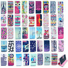 Cute Painted Leather Wallet Card Stand Flip Cover For Iphone 4 5 S 6 &6 Plus
