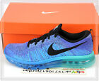 Nike Flyknit Air Max 360 Photo Blue Purple Hyper Grape 620469-500 US 9~11.5 NIB