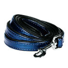 Blueberry Pet Faux Leather Snake Print Embossed Dog Leash Lead