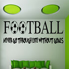 FOOTBALL Wall Art Sticker Quote Boys Bedroom Huge New Gift Vinyl Transfer
