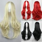 """28"""" Long Hair Costume Wig Women Body Wavy Colorful Wigs Cosplay Party Part Bang"""