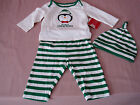 BABYS MY FIRST CHRISTMAS 3pc Outfit Set Penguin Childrens Place Green 0-3 Months