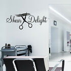 HAIR & BEAUTY SALON - Wall Art Sticker SHEAR DELIGHT Quote Transfer Barbers