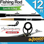 12ft Whipstik Fishing Rod / 2 PIECE / 6-12kg / Spin Rod / Beach & Cliff