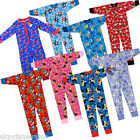 Kids Boys Girls Babies Pyjamas Character All In One Onesie Thomas Disney Frozen