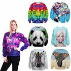 Unisex Digital Print Sweatshirt Women Spring Autumn Pullover Men Jogger Sweater