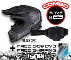 509 ALTITUDE HELMET BLACK OPS W/ SINISTER X5 GOGGLE COMBO SAVE $25.00