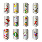 New Water Transfer Part WRAPS Christmas Santa Nail Art Stickers Tips DIY Decals