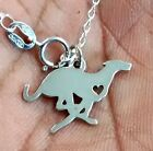 Greyhound Necklace - Sterling Silver Jewelry - Gold - Rose Gold - Engrave-Gift