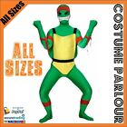 New Green Teenage Mutant Ninja Turtle Skin Zentai Fancy Dress Costume Suit