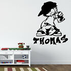 GRAFFITI ARTIST WALL ART STICKER PERSONALISED BOY GIRL BEDROOM TRANSFER VINYL
