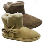 NEW LADIES WOMENS WARM WINTER LUXURY FAUX SUEDE FLEECY FUR LINED SLIPPERS BOOTS