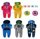 Baby Boy or Girl Long Sleeves Tracksuit w/ Hoods Romper 3 - 24 months
