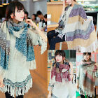 2014 Brand Winter Scarf Women Wool Blend Scarves Tartan Capes Lady Shawl Wrap