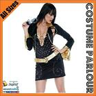 Womens Elvis Pop Rock Star 1980s Licensed Fancy Dress Retro Costume All Sizes