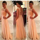 Personality Girl Prom Evening Party Full-Length Backless Lace Long Maxi Dress-CB
