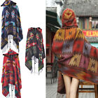 2014 Women Toggle Coat Fringe Poncho Hoodie Hooded Jacket Bohemian Shawl Scarf