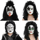 A434 Kiss Demon Starchild Spaceman Catman 80s Rock Star Halloween 1/2 Mask