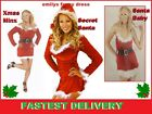 Ladies Sexy Santa Fancy Dress Costume Father Xmas Christmas Outfit *NEW*