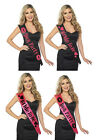 BRIDE TO BE HOT PINK and BLACK Hen Night Party Do Accessories sashes