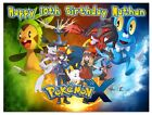 Pokemon Icing Birthday Edible Image Cake Topper Personalized Frosting Sheet