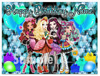 Ever After High  Birthday Edible Image Cake Topper Personalized Icing Sheet