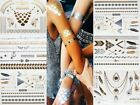 Juelz Metallic Temporary Tattoos Incl Braclets,Necklaces,Feathers & Symbols