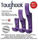 SUPER STRONG & DURABLE COAT HOOK  Pack of Ten UNBREAKABLE PLASTIC - 20 Colours !