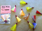 Внешний вид - SILLY WILLY LURES #2 HOOK TEASERS OR FLIES.HAND TIED FOR POMPANO, BLUEFISH 2 PK