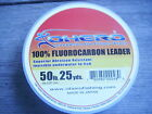 OHERO 100% FLUOROCARBON LEADER LINE 15 YARD SPOOL CLEAR--EXCELLENT QUALITY