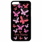 PERSONALISED PINK BUTTERFLIES PRINT iPHONE 6 + PLUS HARD CASE/COVER