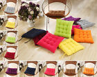MultiColor Square Dining Chair Seat Pad Filled Cotton Soft Cushion Home Office
