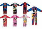 Kids Official Character Frozen Mickey Spider Man Princess Fleece Pyjamas Onesie