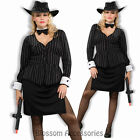 CL167 Gorgeous Gangster 1920s Chicago Mafia Mob Moll Plus Halloween Costume