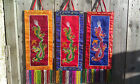 Fair Trade Hand Made Embroided Auspicious Chinese Dragon Brocade Wall Hanging