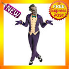 C730  Batman Arkham City Joker Halloween Super Villain Adult Costume